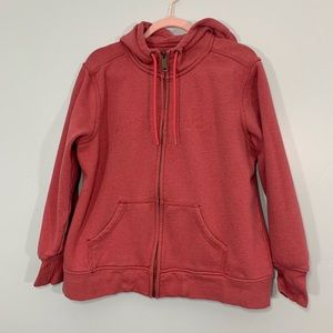 Carhartt | Red Cotton Embroidered Zip Up Hoodie